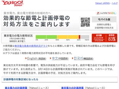 東京電力の節電メータ